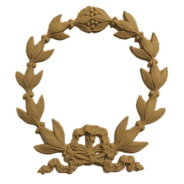 "Resin Furniture Appliques - 5-1/4""(W) x 5-3/4""(H) - Classic Wreath Design - [Compo Material]"