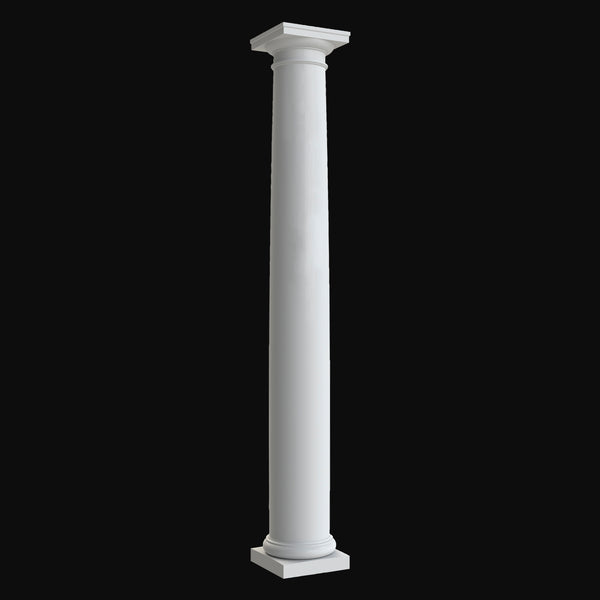 Brockwell Columns - Design BR#104 - Plain, Tapered Round Tuscan Column