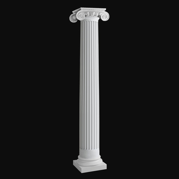 Exterior column Design #BR-143 - Roman Ionic, fluted, round fiberglass column from Brockwell Incorporated