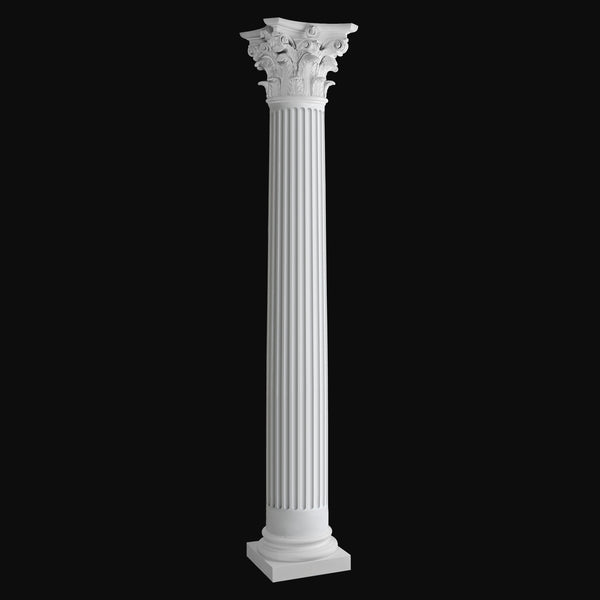 Exterior Column Design #BR-153 - Fluted, Round, Roman Corinthian fiberglass composite column by Brockwell Incorporated