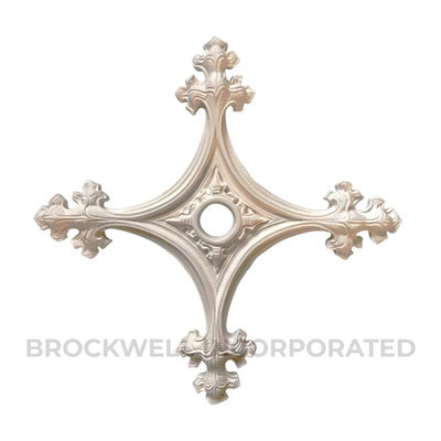"Gothic Style Plaster Medallion - 20"" - Brockwell Incorporated"