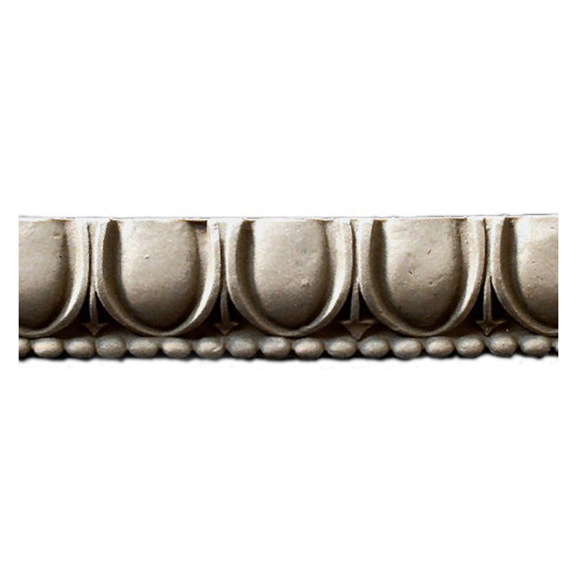 "Historic 1-3/16""(H) x 7/16""(Relief) - Linear Moulding - Classic Egg & Dart Design - [Compo Material] = ColumnsDirect.com"