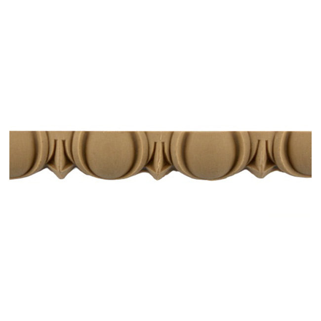 "Historic 3/4""(H) x 7/16""(Relief) - Linear Moulding - Roman Egg & Dart Design - [Compo Material] = ColumnsDirect.com"