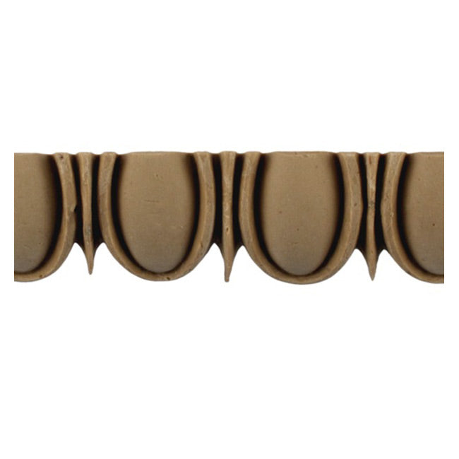 "Historic 1-1/8""(H) x 5/8""(Relief) - Roman Style Egg & Dart Linear Moulding Design - Stainable - [Compo Material] = ColumnsDirect.com"