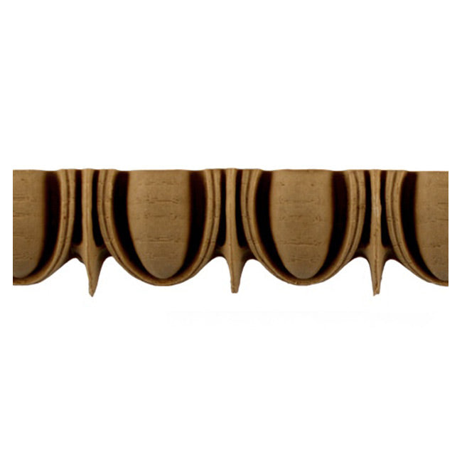 "Historic 1-5/16""(H) x 11/16""(Relief) - Linear Moulding - Greek Egg & Dart Design - [Compo Material] = ColumnsDirect.com"