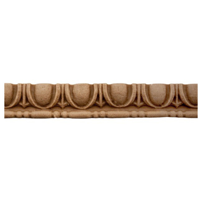 "Historic 7/16""(H) x 1/4""(Relief) - Linear Moulding - Greek Egg & Dart Design - [Compo Material] = ColumnsDirect.com"