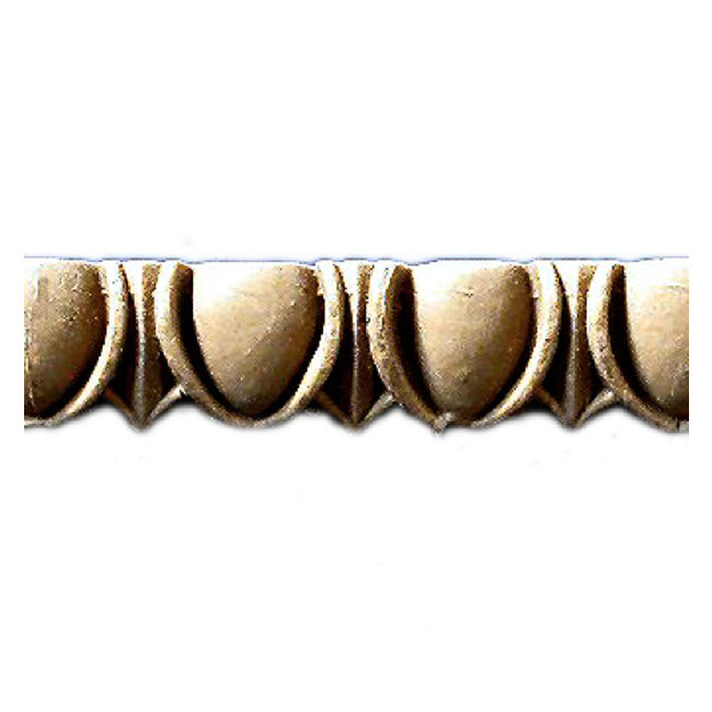 "Historic 11/16""(H) x 1/4""(Relief) - Linear Moulding - Roman Egg & Dart Design - [Compo Material] = ColumnsDirect.com"