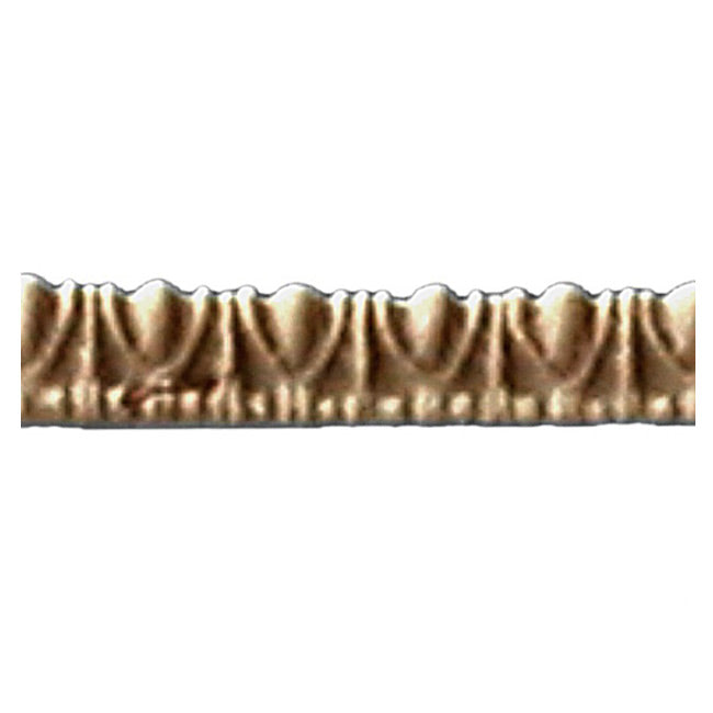 "Historic 3/16""(H) x 5/32""(Relief) - Linear Moulding - Greek Egg & Dart Design - [Compo Material] = ColumnsDirect.com"