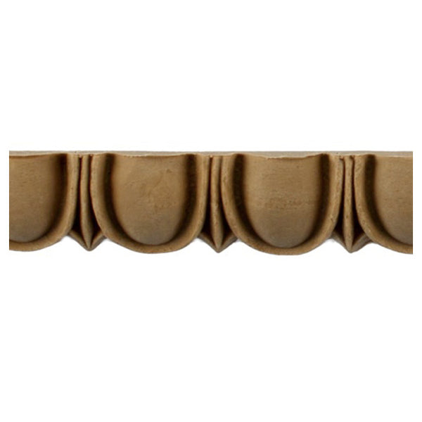 "Historic 1""(H) x 1/2""(Relief) - Linear Moulding - Roman Egg & Dart Design - [Compo Material] = ColumnsDirect.com"