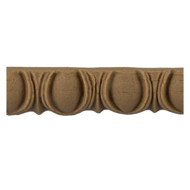 "Historic 1/2""(H) x 1/4""(Relief) - Roman Style Egg & Dart Linear Moulding Design - [Compo Material] = ColumnsDirect.com"