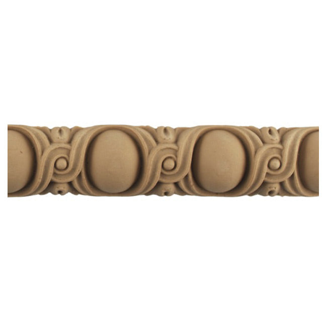 "Historic 1-3/8""(H) x 11/16""(Relief) - Louis XVI Style Egg & Dart Linear Moulding Design - Stainable - [Compo Material] = ColumnsDirect.com"