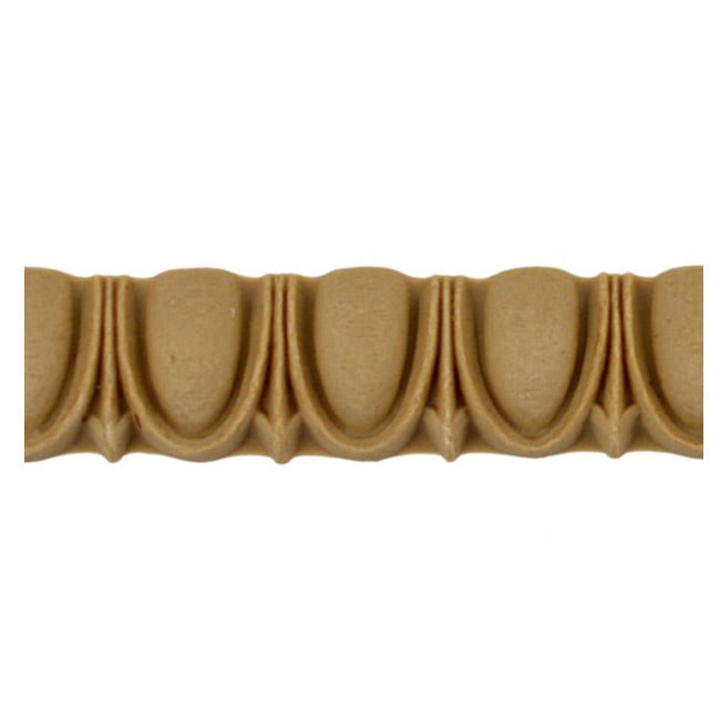 "Historic 5/8""(H) x 1/2""(Relief) - Greek Egg & Dart Linear Moulding Design - Stain-Grade - [Compo Material] = ColumnsDirect.com"
