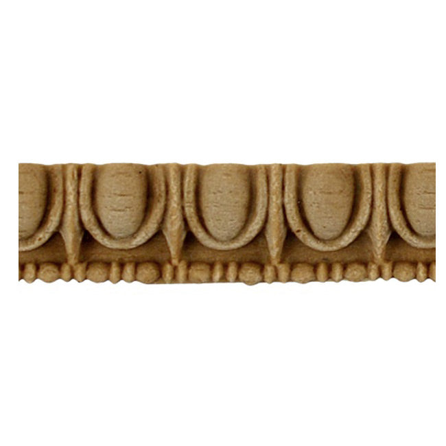 "Historic 3/8""(H) x 5/16""(Relief) - Greek Egg & Dart Linear Moulding Design - Stain-Grade - [Compo Material] = ColumnsDirect.com"