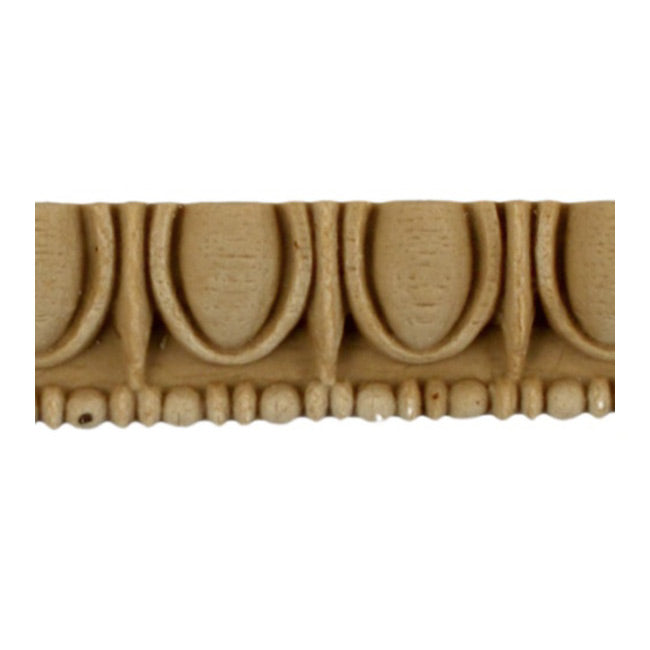 "Historic 3/4""(H) x 5/16""(Relief) - Greek Egg & Dart Linear Moulding Design - Stain-Grade - [Compo Material] = ColumnsDirect.com"