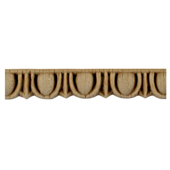 "Historic 1/2""(H) x 7/16""(Relief) - Roman Egg & Dart Design - Stainable Linear Moulding - [Compo Material] = ColumnsDirect.com"