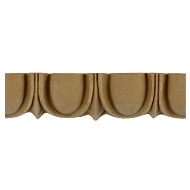 "Historic 7/8""(H) x 5/8""(Relief) - Roman Egg & Dart Design - Stainable Linear Moulding - [Compo Material] = ColumnsDirect.com"