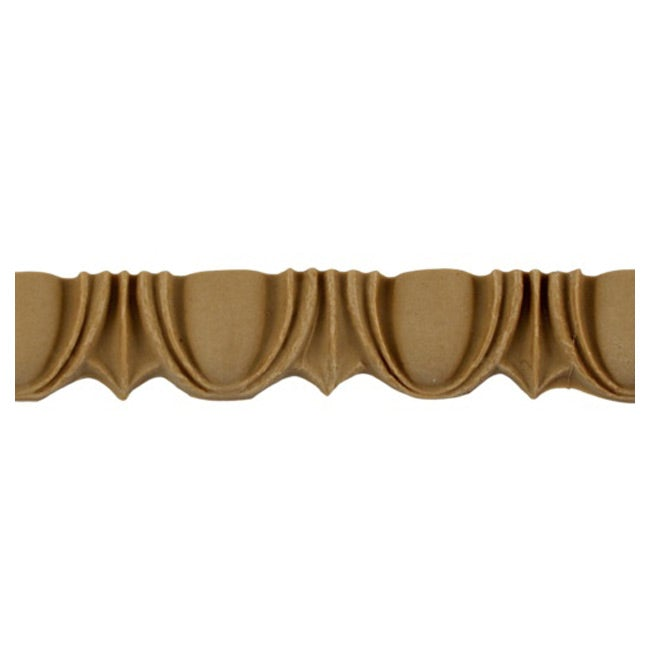 "Historic 2""(H) x 1-1/2""(Relief) - Roman Egg & Dart Design - Stainable Linear Moulding - [Compo Material] = ColumnsDirect.com"