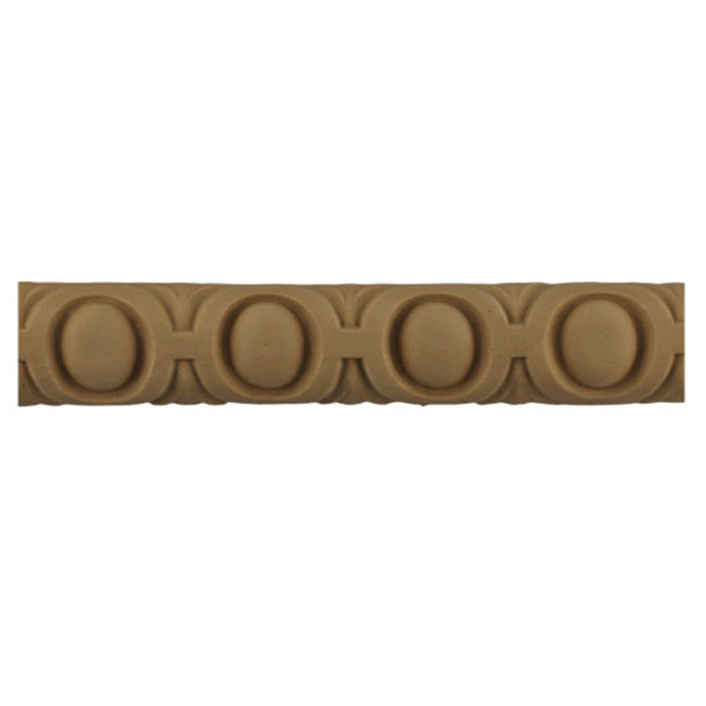 "Historic 1-1/8""(H) x 1/2""(Relief) - French Style Egg & Dart Linear Moulding Design - Stainable - [Compo Material] = ColumnsDirect.com"