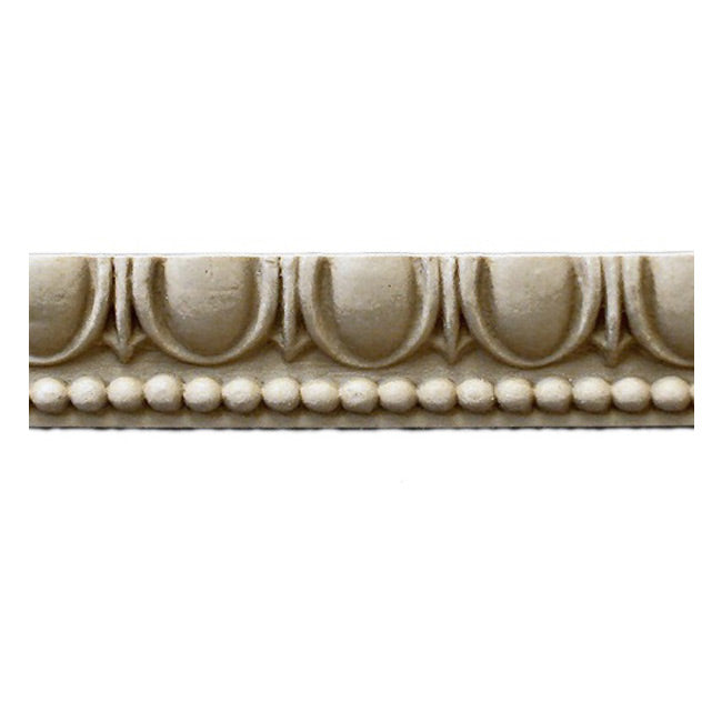 "Historic 1-3/4""(H) x 1-1/8""(Relief) - Greek Egg & Dart Design - Stainable Linear Moulding - [Compo Material] = ColumnsDirect.com"