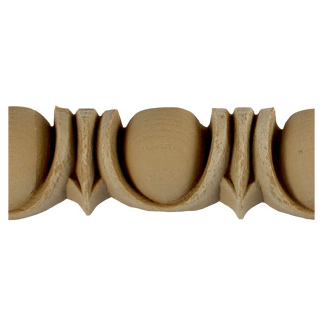 "Historic 1-1/2""(H) x 1""(Relief) - Renaissance Egg & Dart Design - Stainable Linear Moulding - [Compo Material] = ColumnsDirect.com"