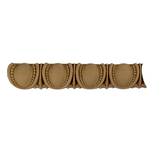"Historic 1-3/8""(H) x 5/8""(Relief) - Greek Egg & Dart Design - Stainable Linear Moulding - [Compo Material] = ColumnsDirect.com"