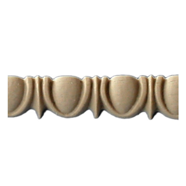 "Historic 11/16""(H) x 7/16""(Relief) - Greek Egg & Dart Design - Stainable Linear Moulding - [Compo Material] = ColumnsDirect.com"