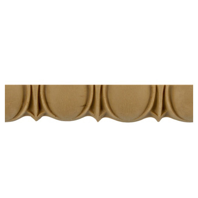 "Historic 1-1/8""(H) x 5/16""(Relief) - Renaissance Egg & Dart Design - Stainable Linear Moulding - [Compo Material] = ColumnsDirect.com"