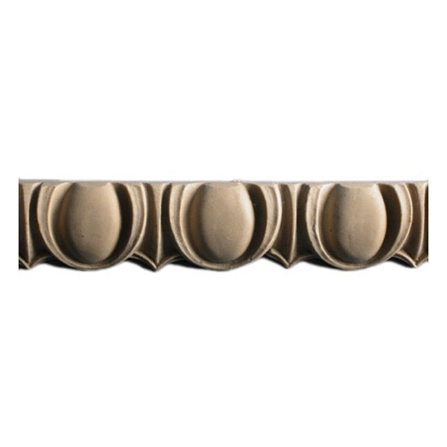 "Historic 1-1/8""(H) x 3/8""(Relief) - Stainable Moulding - Roman Egg & Dart Design - [Compo Material] = ColumnsDirect.com"