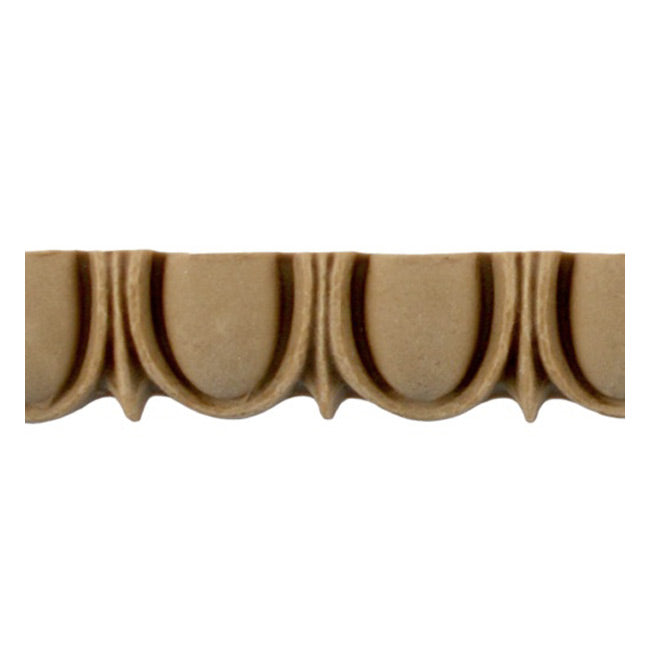 "Historic 3/4""(H) x 1/2""(Relief) - Linear Moulding - Greek Egg & Dart Design - [Compo Material] = ColumnsDirect.com"