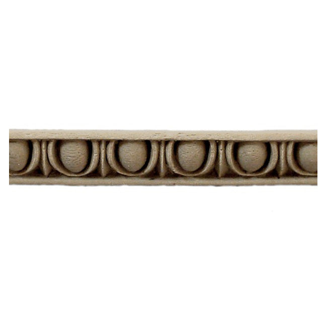 "Historic 7/16""(H) x 3/8""(Relief) - Linear Moulding - Classic Egg & Dart Design - [Compo Material] = ColumnsDirect.com"