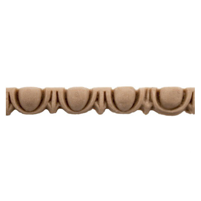 "Historic 3/16""(H) x 5/32""(Relief) - Linear Moulding - Roman Egg & Dart Design - [Compo Material] = ColumnsDirect.com"