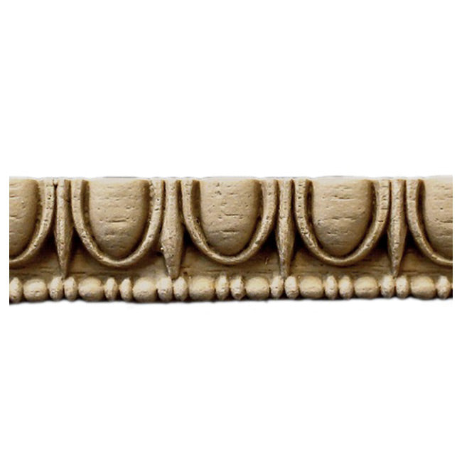 "Historic 7/8""(H) x 3/8""(Relief) - Linear Moulding - Greek Egg & Dart Design - [Compo Material] = ColumnsDirect.com"