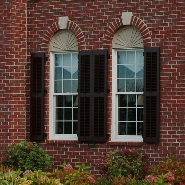 faux tilt rod exterior louvered window shutters by brockwell incorporated