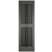 Exterior Window Shutters Faux Tilt Rod Open Louver Shutters - [Architectural Collection] - Brockwell Incorporated - ColumnsDirect.com
