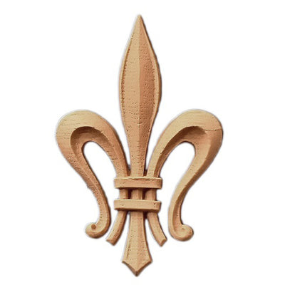 "Resin Accent - 2-1/2""(W) x 4-1/8""(H) x 3/8""(Relief) - Gothic Fleur de Lis - [Compo Material] - Brockwell Incorporated"