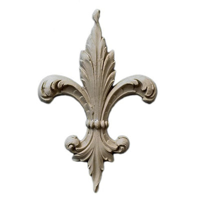 "Resin Accent - 4-1/2""(W) x 6-3/8""(H) x 3/8""(Relief) - Renaissance Fleur de Lis - [Compo Material] - Brockwell Incorporated"