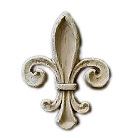 "Resin Accent - 3/4""(W) x 1-1/8""(H) x 1/8""(Relief) - Renaissance Fleur de Lis - [Compo Material] - Brockwell Incorporated"