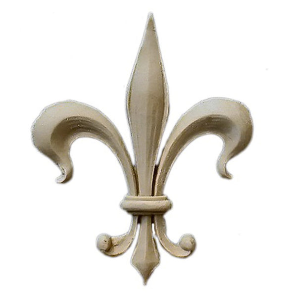 "Resin Accent - 2-1/4""(W) x 2-7/8""(H) x 3/16""(Relief) - Gothic Fleur de Lis - [Compo Material] - Brockwell Incorporated"