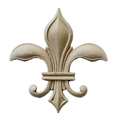 "Resin Accent - 2-3/8""(W) x 3-1/8""(H) x 3/16""(Relief) - Gothic Fleur de Lis - [Compo Material] - Brockwell Incorporated"
