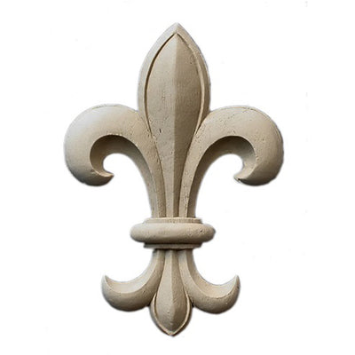 "Resin Accent - 3-3/4""(W) x 5-1/4""(H) x 5/16""(Relief) - Renaissance Fleur de Lis - [Compo Material] - Brockwell Incorporated"