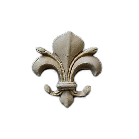 "Resin Accent - 1-3/8""(W) x 1-1/2""(H) x 1/4""(Relief) - Gothic Fleur de Lis - [Compo Material] - Brockwell Incorporated"