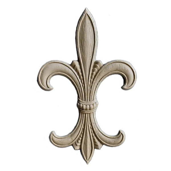 "Resin Accent - 4-3/4""(W) x 7-5/8""(H) x 1/4""(Relief) - Empire Fleur de Lis - [Compo Material] - Brockwell Incorporated"