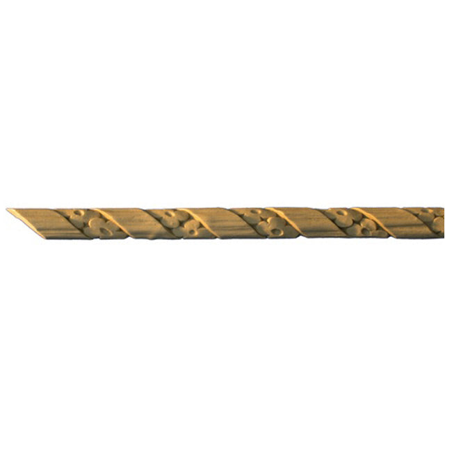 "3/4""(H) x 1/4""(Relief) - Interior Linear Moulding - Floral Rope Design - [Compo Material]-Brockwell Incorporated"