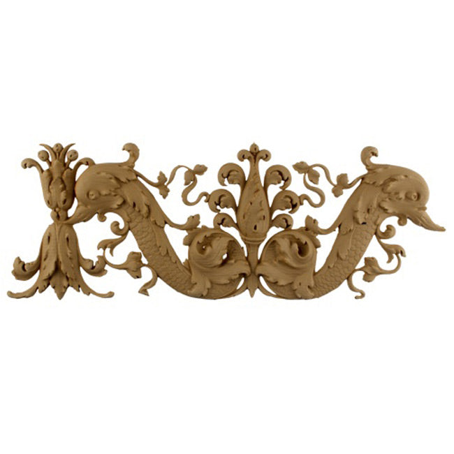 "6-1/2""(H) x 3/4""(Relief) - Linear Molding - Italian Renaissance Floral Design - [Compo Material]-Brockwell Incorporated"