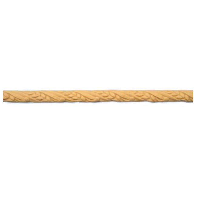 "5/8""(H) - Interior Stain-Grade Linear Moulding - Twisted Wheat Design - [Compo Material]-Brockwell Incorporated"