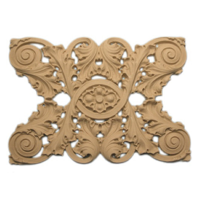 "5-3/8""(H) x 5/16""(Relief) - Linear Molding - Sullivan Style Floral Design - [Compo Material]-Brockwell Incorporated"