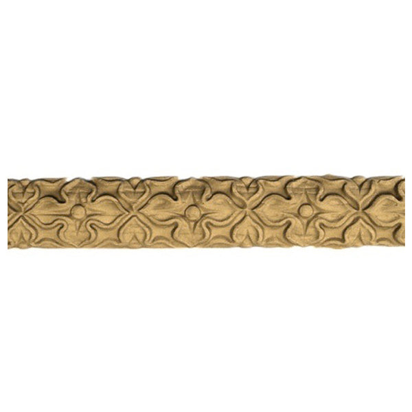 "1""(H) x 1/4""(Relief) - Linear Molding - Empire Style Floral Design - [Compo Material]-Brockwell Incorporated"