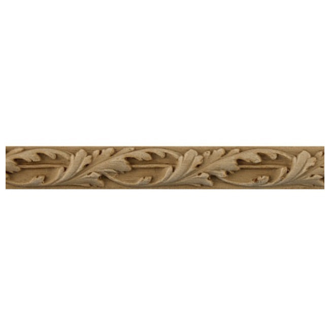 "9/16""(H) x 3/16""(Relief) - Linear Molding - Louis XIV Floral Rope Design - [Compo Material]-Brockwell Incorporated"