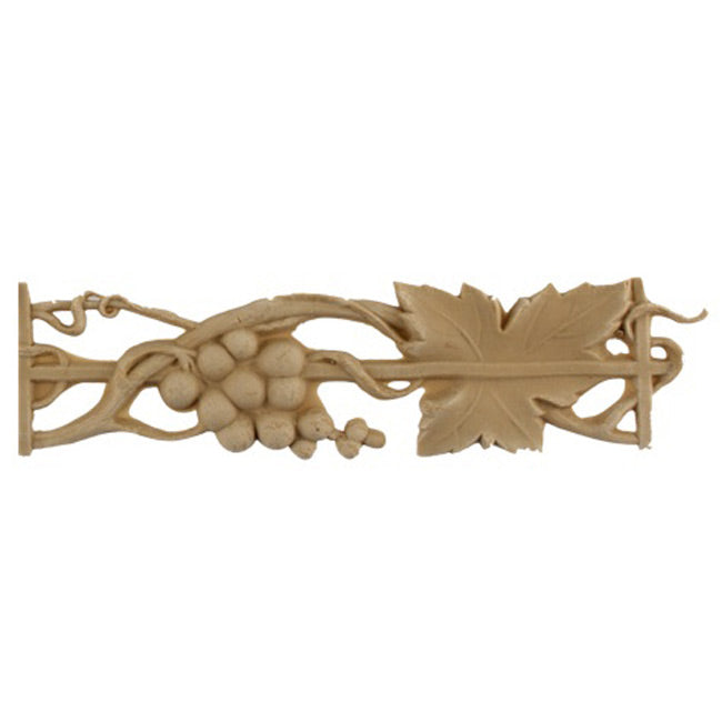 "1-5/8""(H) x 1/4""(Relief) - Grape Cluster Floral Linear Molding Design - [Compo Material]-Brockwell Incorporated"