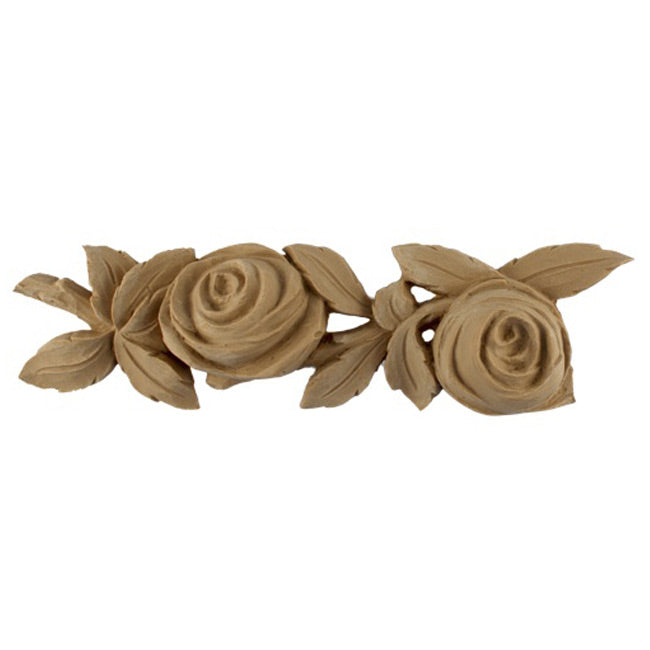 "2-1/2""(H) x 1-1/4""(Relief) - Repeat: 9-1/4"" - Rose Floral Linear Molding Design - [Compo Material]-Brockwell Incorporated"